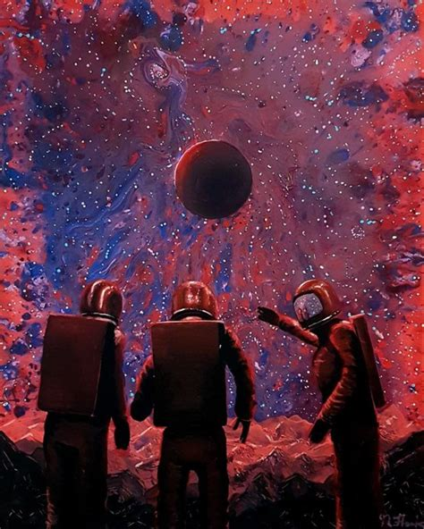acrylic painting reddit did an acrylic painting of some astronauts exploring new
