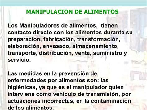 clases de manipuladores de alimentos manejo y manipulaci 243 n de alimentos