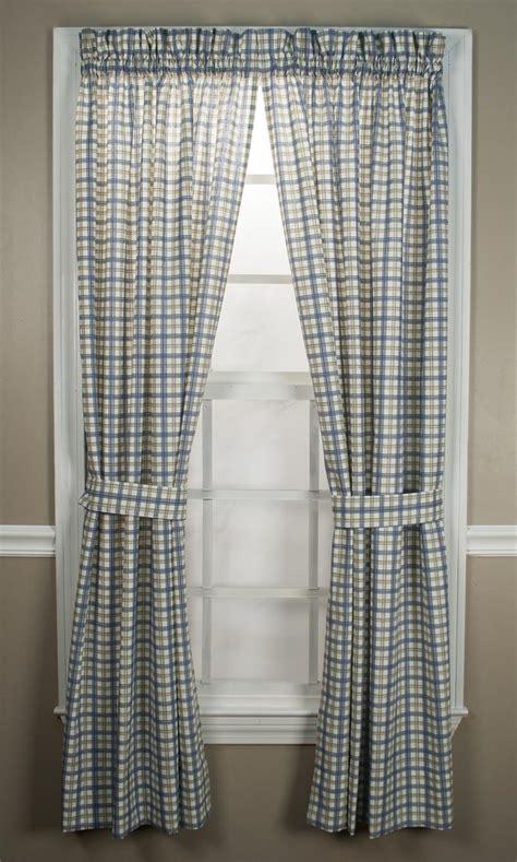 plaid curtain panels custom bristol plaid rod pocket curtain panel lined
