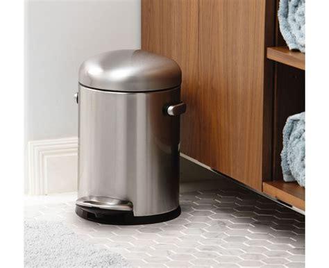 simplehuman bathroom trash can simplehuman 4 5l stainless steel small step trash can