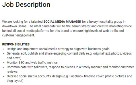 workflow specialist description social media manager vs community manager what s the