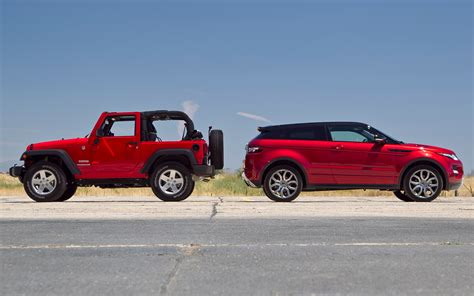 land rover jeep cars oh the variety why our suv of the year test is so interesting