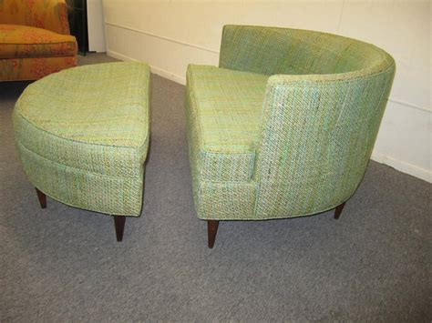 Half Circle Chair by Pair Of Wide Semi Circle Milo Baughman Style