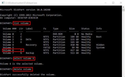 diskpart format raw volume how to use diskpart commands in windows 10