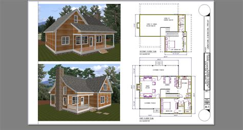 2 bedroom with loft cabin floor plans studio design