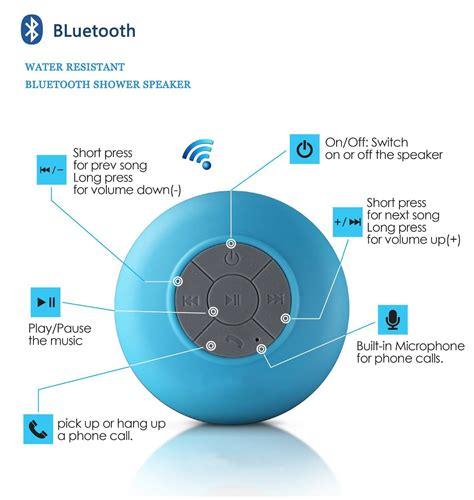 Lapara Waterproof Bluetooth Shower Speaker Bts06 Biru 1 magnet play splash magnet india