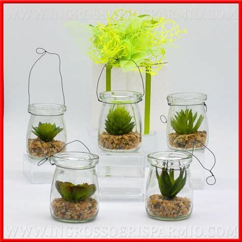 vaso per piante grasse piante grasse con vaso vetro lanterna e sassi