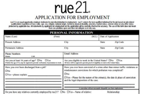 printable job applications for rue 21 rue 21 application