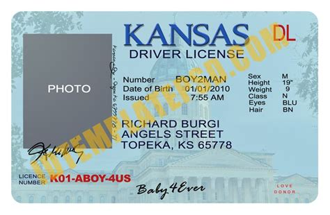 driver license template this is kansas usa state drivers license psd photoshop