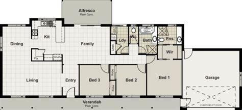 wide frontage house designs teewah 207 house plan