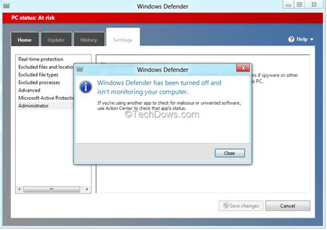 windows 8 defender turn on how to disable or turn off windows defender in windows 8