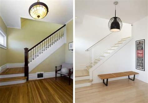 vestibulo de entrada a una vivienda antes y despu 233 s de una vivienda en oakland decoracion de