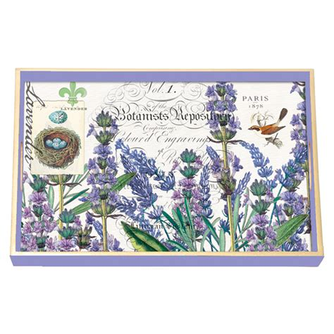 Michel Design Works Decoupage Tray - lavender rosemary decoupage wooden vanity tray by michel