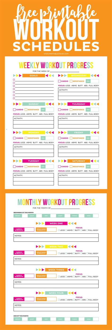 printable daily workout schedule best 10 home workout schedule ideas on pinterest 10