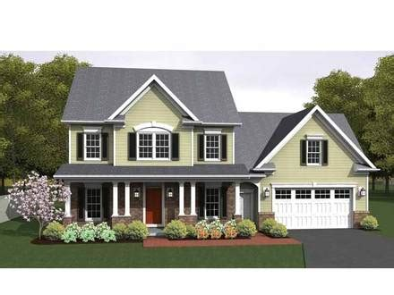 Colonial Ranch House Plans by Colonial Style House Plans 2786 Square Foot Home 3 Story