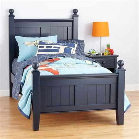 boy bed frames the land of nod kids beds kids dark blue painted