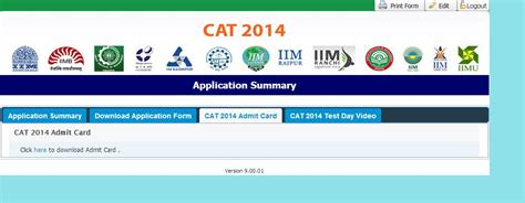 Cat Mba Field by Cat 2014 Admit Card Now Available