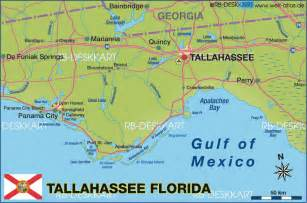 florida map tallahassee map of tallahassee region united states of america usa