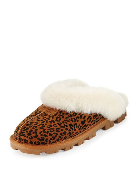 ugg coquette slippers lyst ugg coquette rosette shearling slippers in brown
