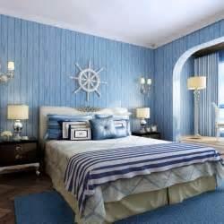 Superior Papier Peint Chambre Adulte #2: Papier-peint-chambre-aspect-bois-bleu-th�me-marin.jpg