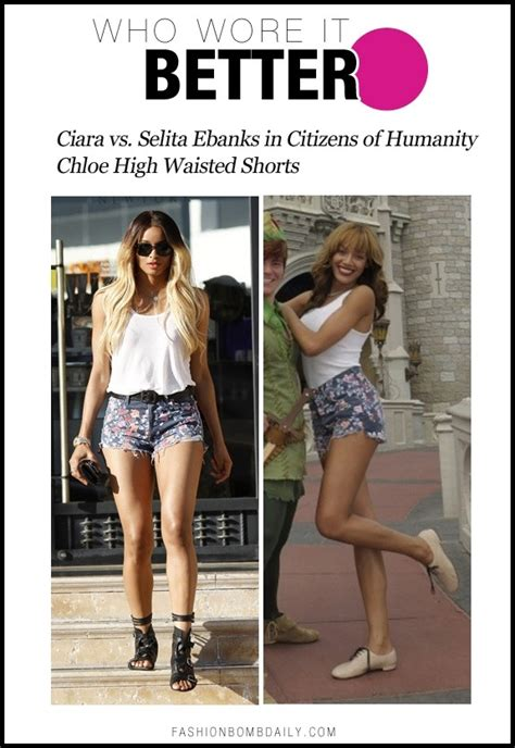 Who Wore It Better High Waisted by Who Wore It Better Ciara Vs Selita Ebanks In Citizens