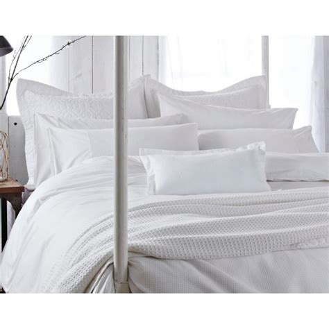 bedeck duvet covers bedeck sanctuary white waffle design duvet cover and two