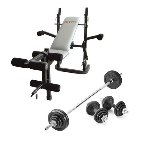bench weights set york b501 weight bench with 50kg cast iron weight set