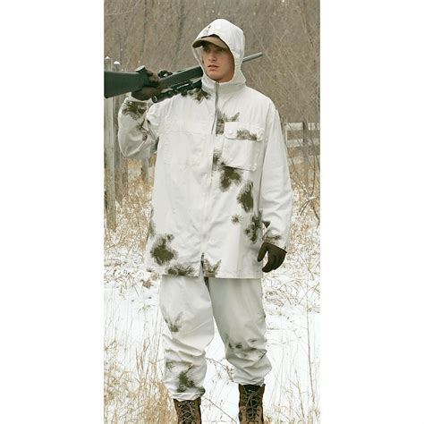 Army Set Overall By Anfashion used german 2 pc reversible snow camo set