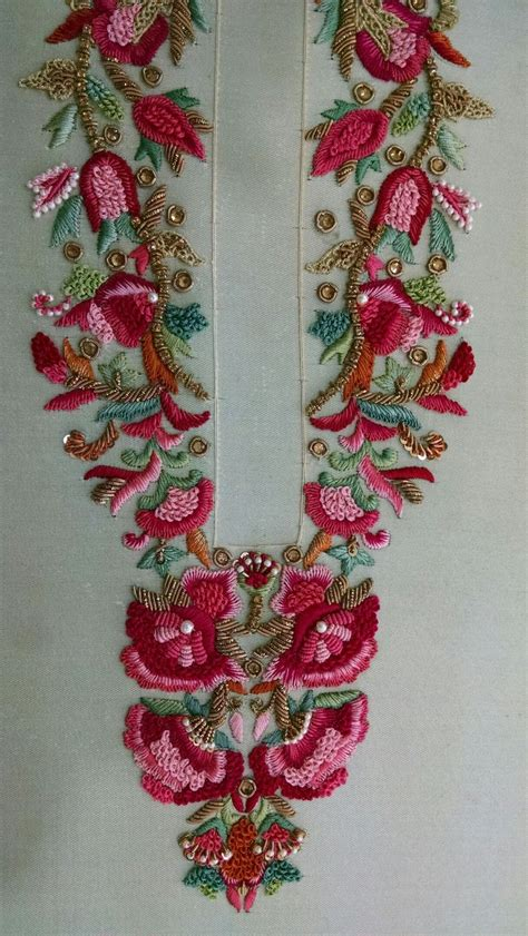 Handmade Embroidery Designs Suits - 54 best images about dabka embroidery on
