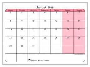Kalender 2018 Januar Kalender Zum Ausdrucken Januar 2018 Welt