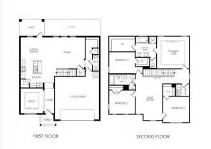 2 Story House Blueprints Two Story 4 Bedroom Home Floor Plan Future Home Ideas