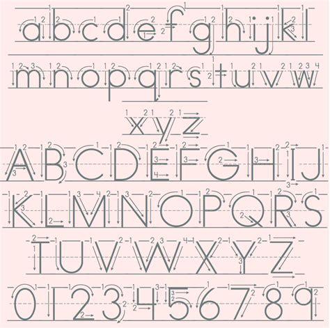 print lined font fonts4teachers
