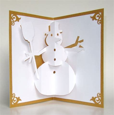 how to make 3d greeting cards at home snowman 3d pop up greeting card home d 233 cor handmade cut by