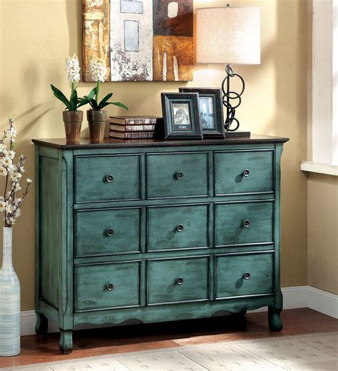 wholesale wooden color chest of drawers for dining room furniture of america antique teal vinia 3 drawer dresser