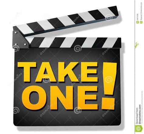 The Take take one royalty free stock photos image 20875298
