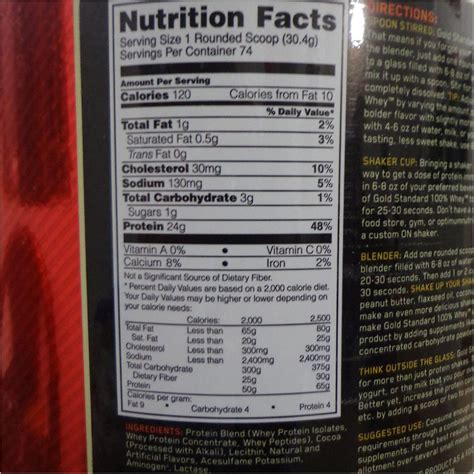 Whey Protein On Gold Standard optimum nutrition 100 whey gold standard rich