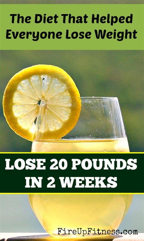 Detox Drink Lose 10 Pounds In A Week by Diet That Helped Everyone Lose 20 Pounds In 2 Weeks