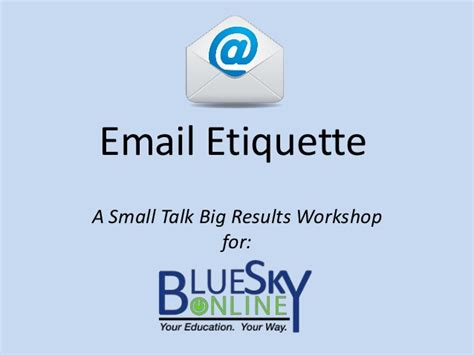 email ethics email etiquette workshop