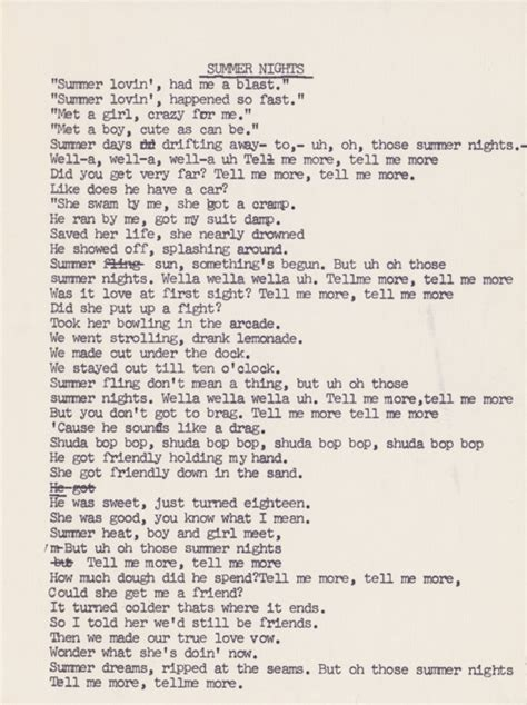 Grease Lighting Song Lyrics by Stuff We Find In Our Record Sleeves Typed Grease Soundtrack Lyrics