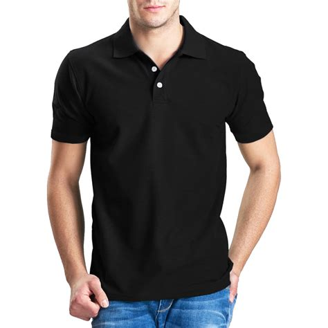 Hoodie Polos Plain Hitam Zem Clothing 1 mens polo shirt boys golf tennis pique tees top plain t shirt sleeve s 2xl ebay