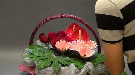 gordon new year flower arrangement b109 gordon 特色鮮花籃 creative flower basket
