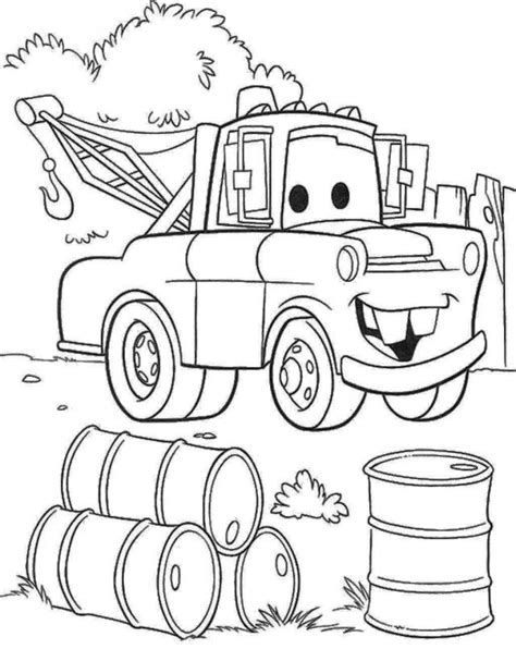 coloring pictures of mater from cars tow mater coloring pages coloring home