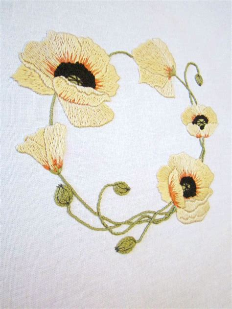 embroidery design by hand yellow wreath 8 stitching patterns floral embroidery