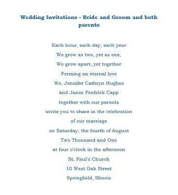 and groom wedding invites wording wedding invitations groom both parents wording