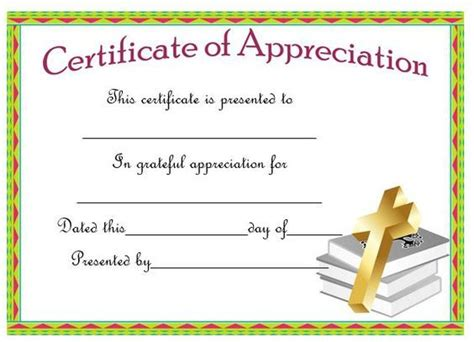 religious certificate of appreciation template 21 best pastor appreciation certificate templates images