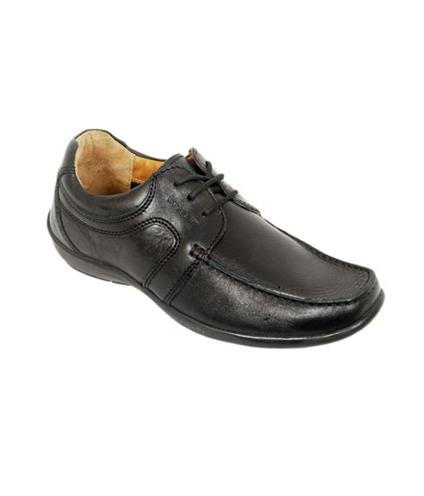 woodland black smart leather casual shoes price in india