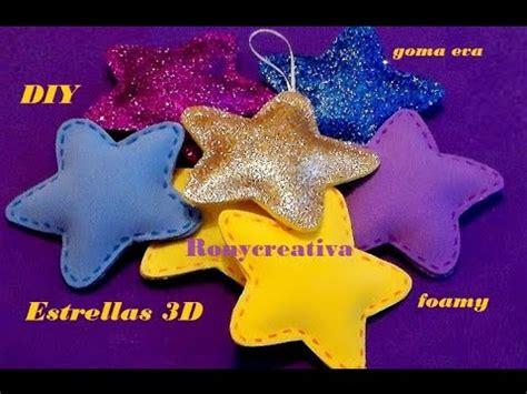 estrella de goma eva y purpurina para decorar el arbol de navidad como hacer estrellas 3d en foamy o goma eva foamy stars