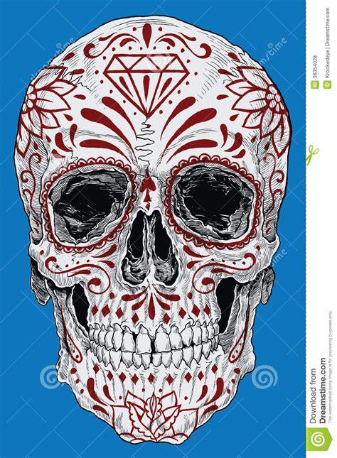 sugar skull candy skull day day of the dead sugar skull vector mexican skull dia