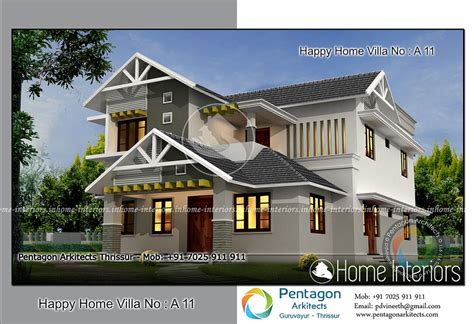 4 bhk villa in 1850 sq ft kerala home design and floor plans 2625 square 4 bhk traditional happy home villa 11 design