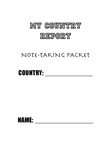 country report template miss herold s 4th grade